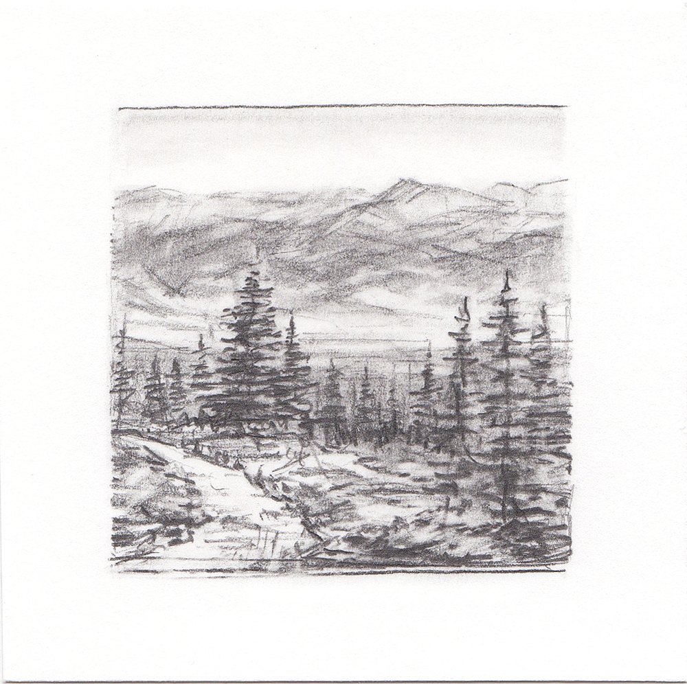 #7 Mt. Elbert Trail, Colorado | 3x3 | graphite