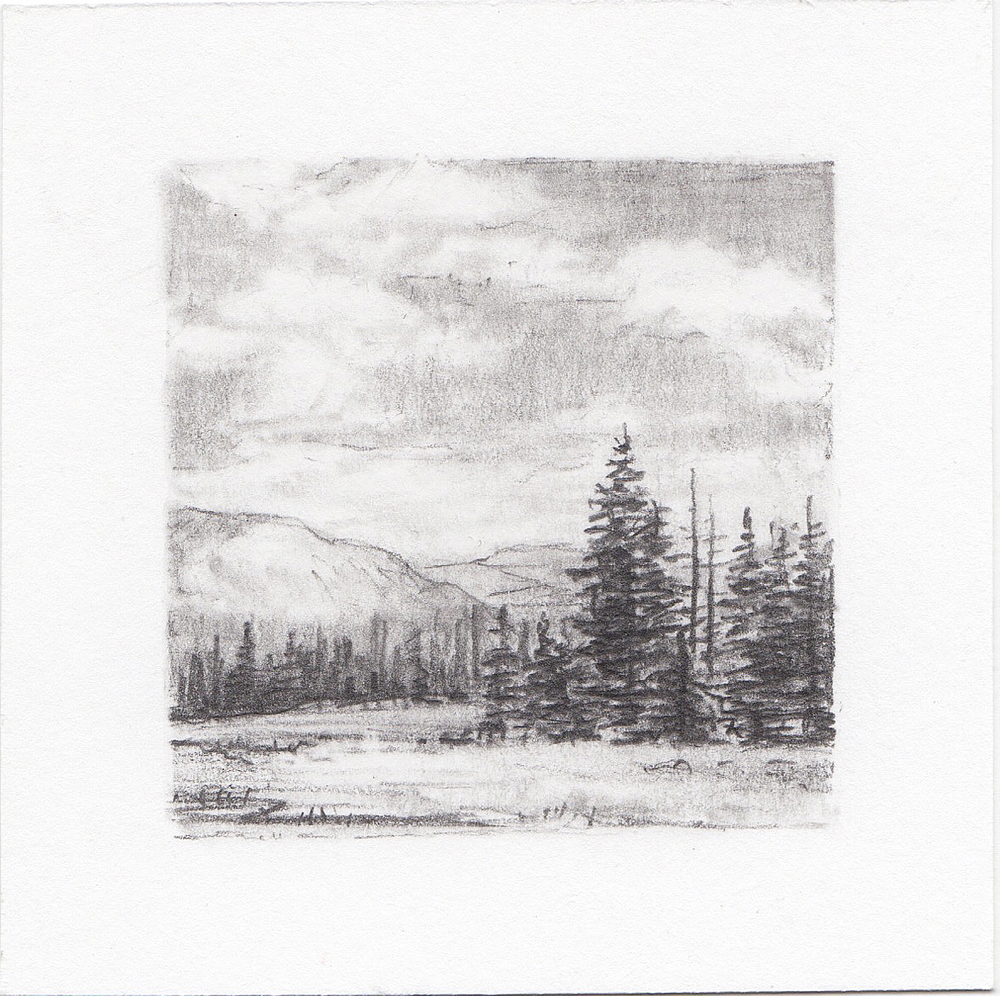 #9 Cuberant Lakes Trail, Uinta Mountains, Utah | 3x3 | graphite