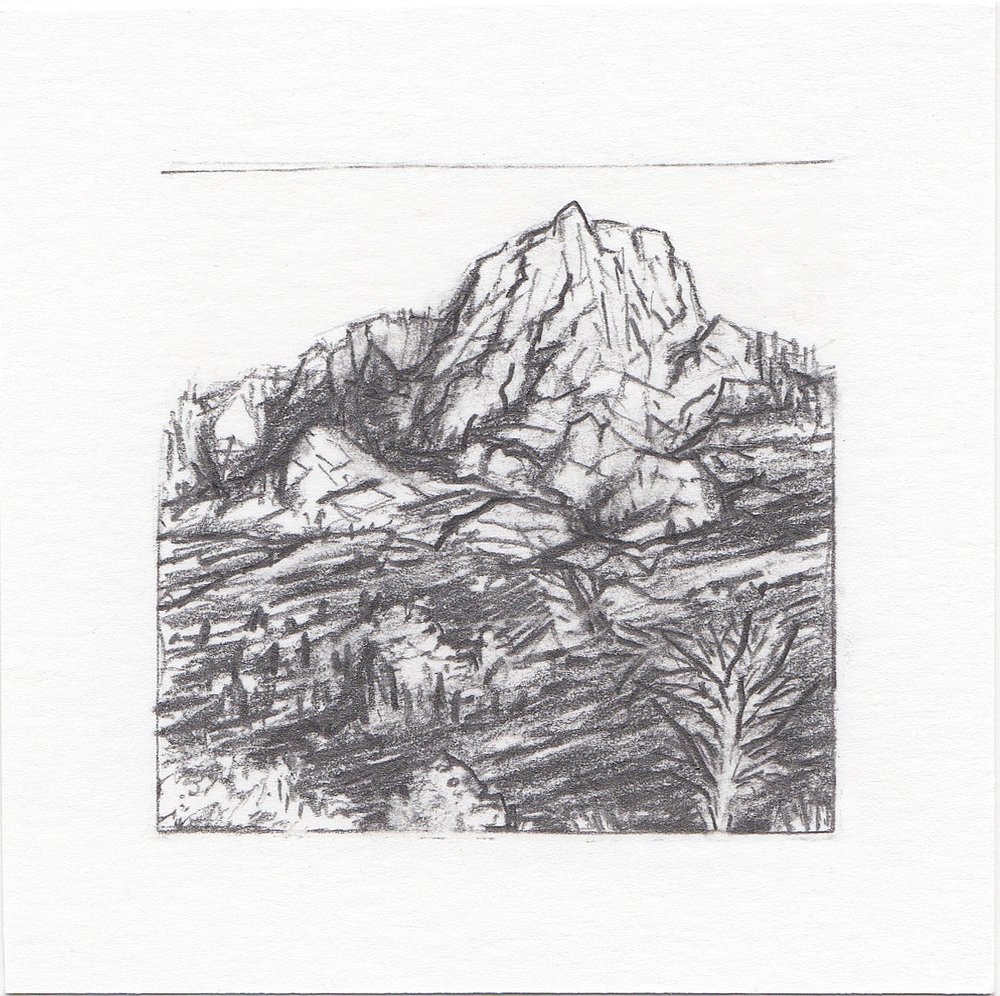 #13 Lone Peak Trail, Wasatch Mountains, Utah | 3x3 | graphite
