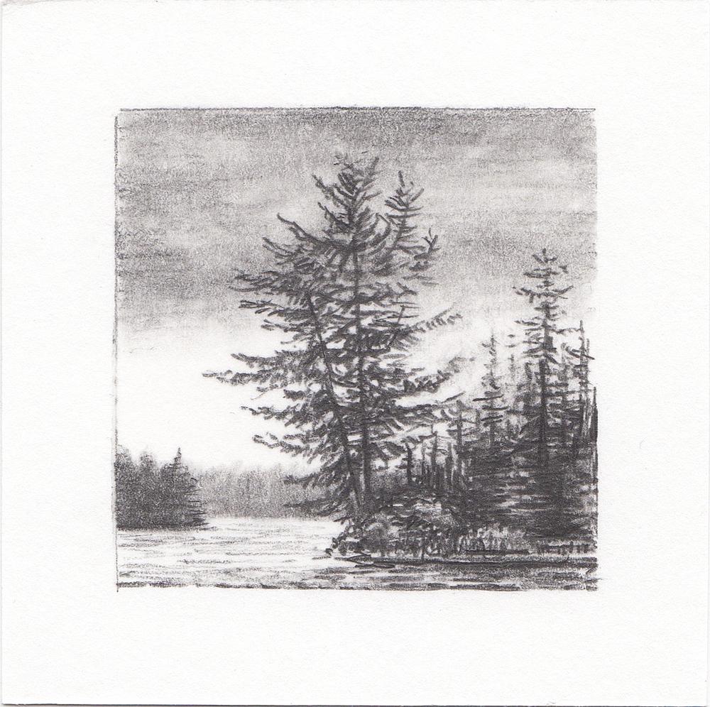 #14 Quetico Provincial Park, Ontario, Canada | 3x3 | graphite