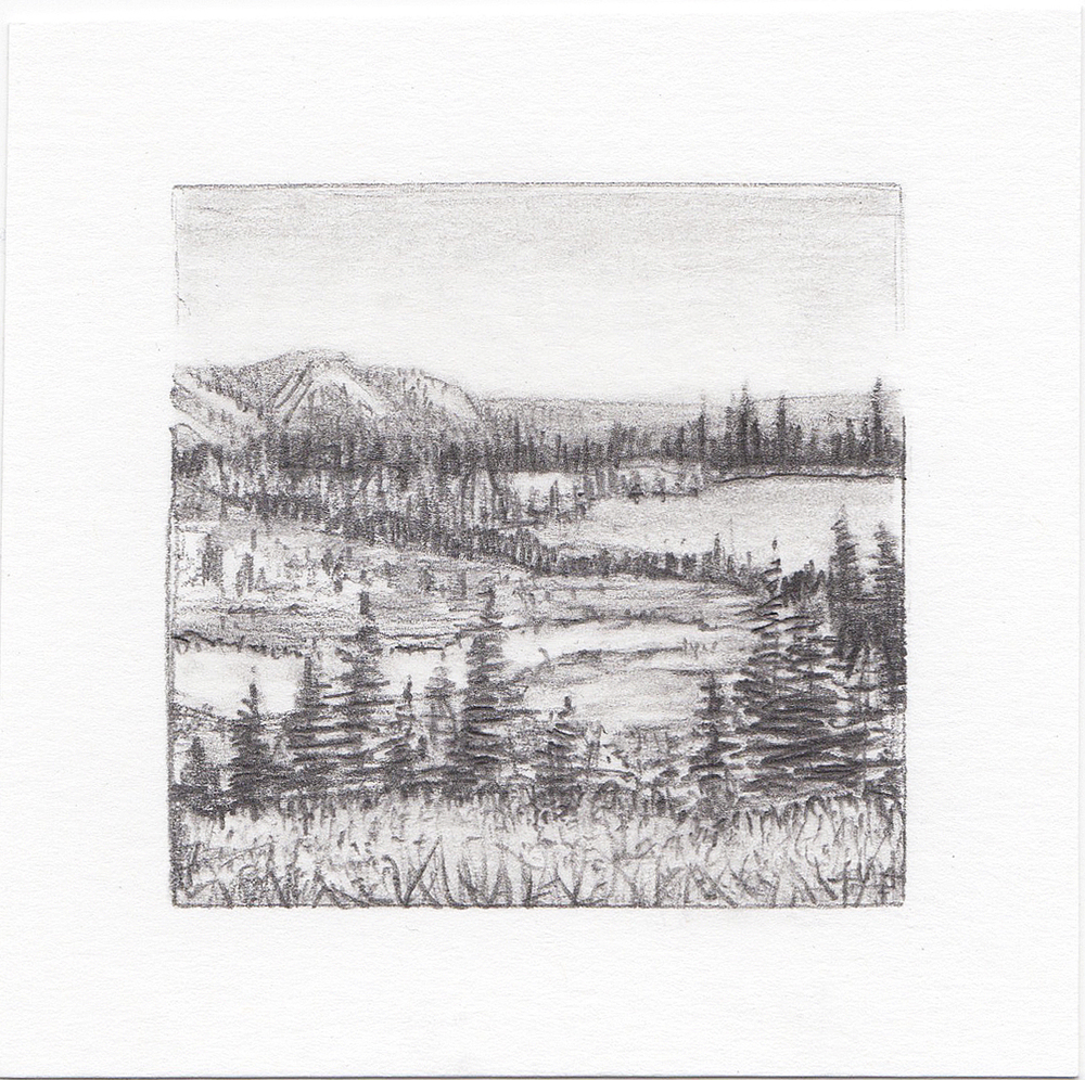 #15 Cuberant Lakes, Uinta Mountains, Utah | 3x3 | graphite
