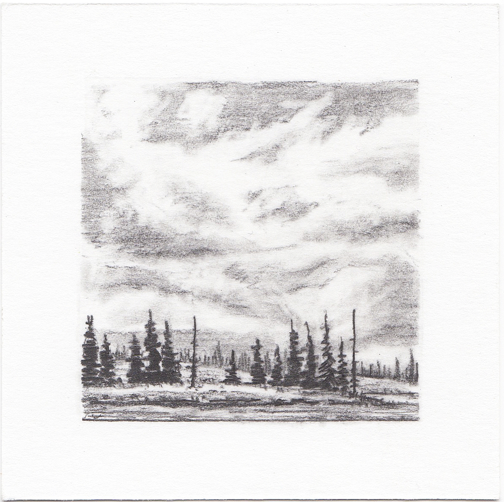 #18 Long Lake, Uinta Mountains,  Utah | 3x3 | graphite
