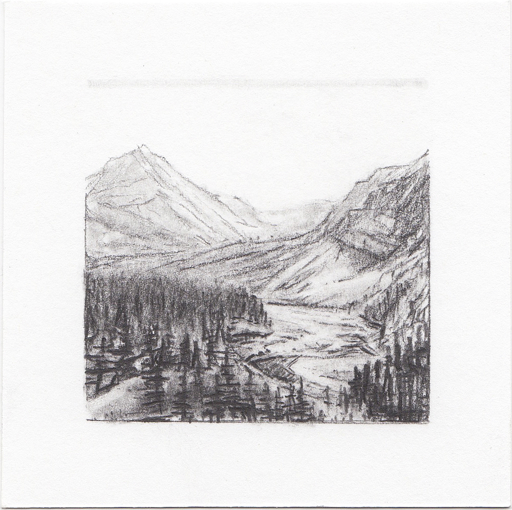 #19 Denali National Park, Denali Alaska | 3x3 | graphite