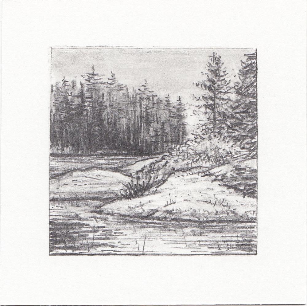 #21 Quetico Provincial Park, Ontario, Canada | 3x3 | graphite