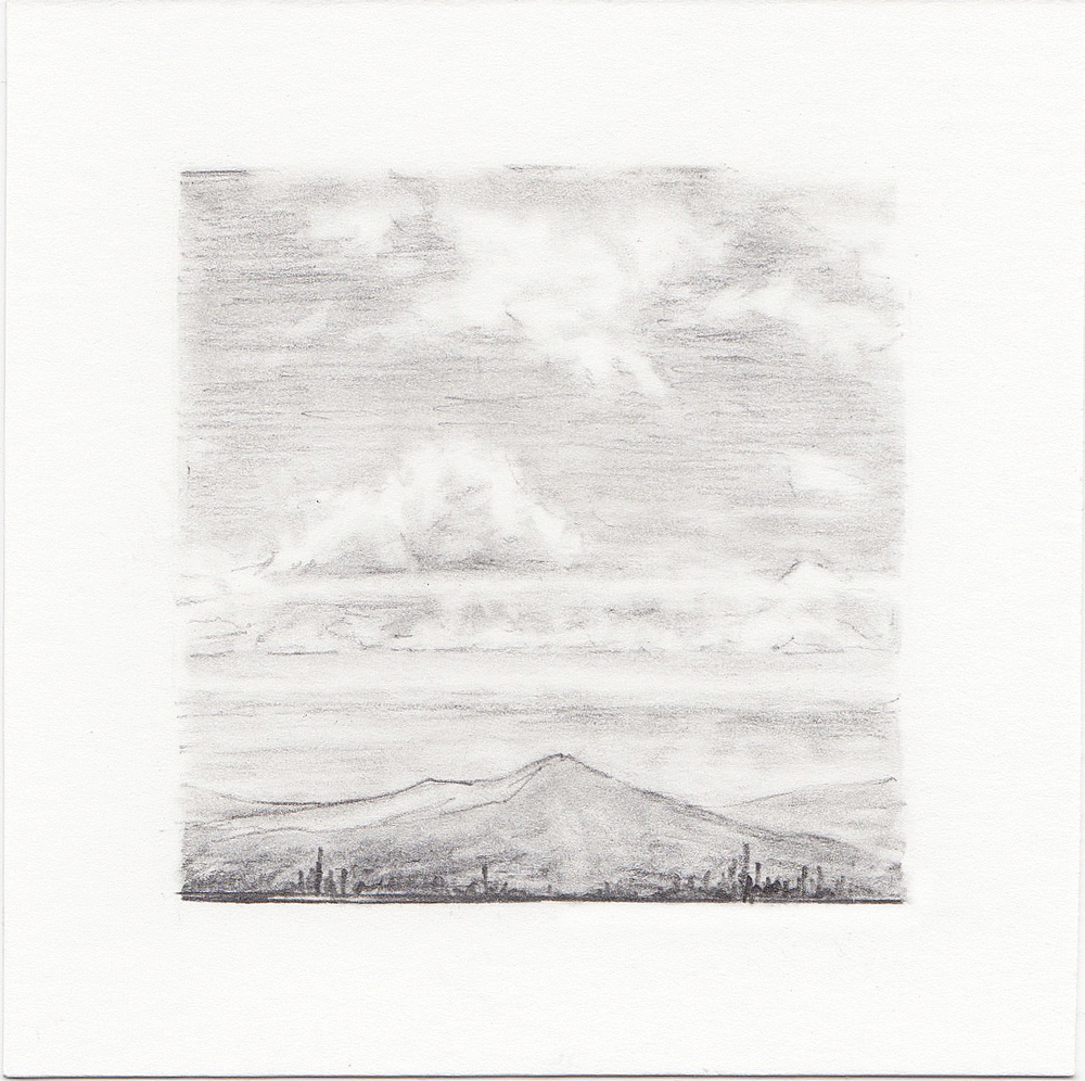 #22 Bonneville Shoreline Trail, Salt Lake City, Utah | 3x3 | graphite