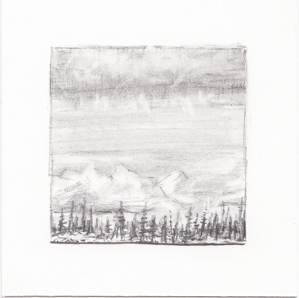 #23 Long Lake, Uinta Mountains, Utah | 3x3 | graphite