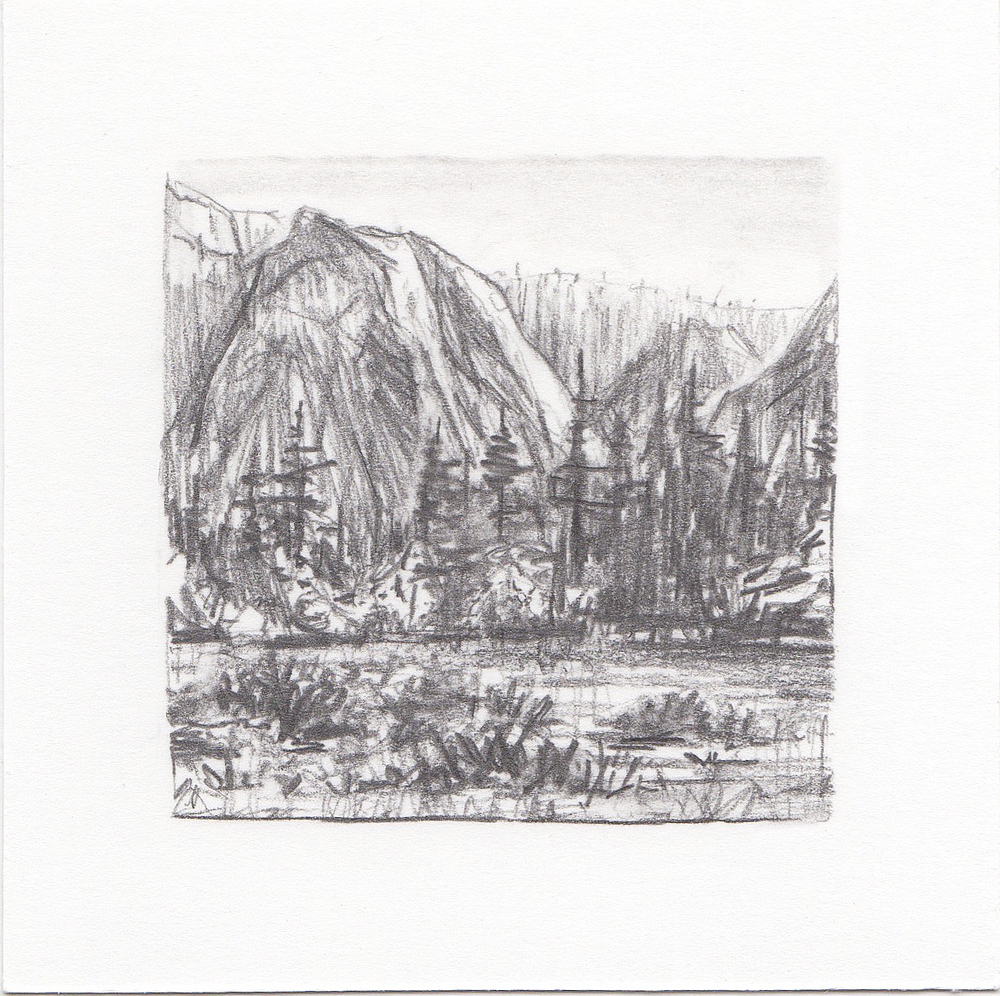 #24 Yosemite National Park, California | 3x3 | graphite