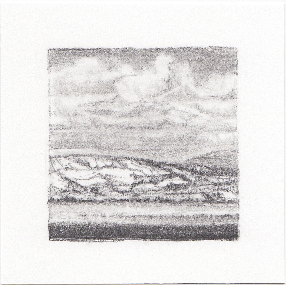 #25 Uinta Mountains, Utah | 3x3 | graphite