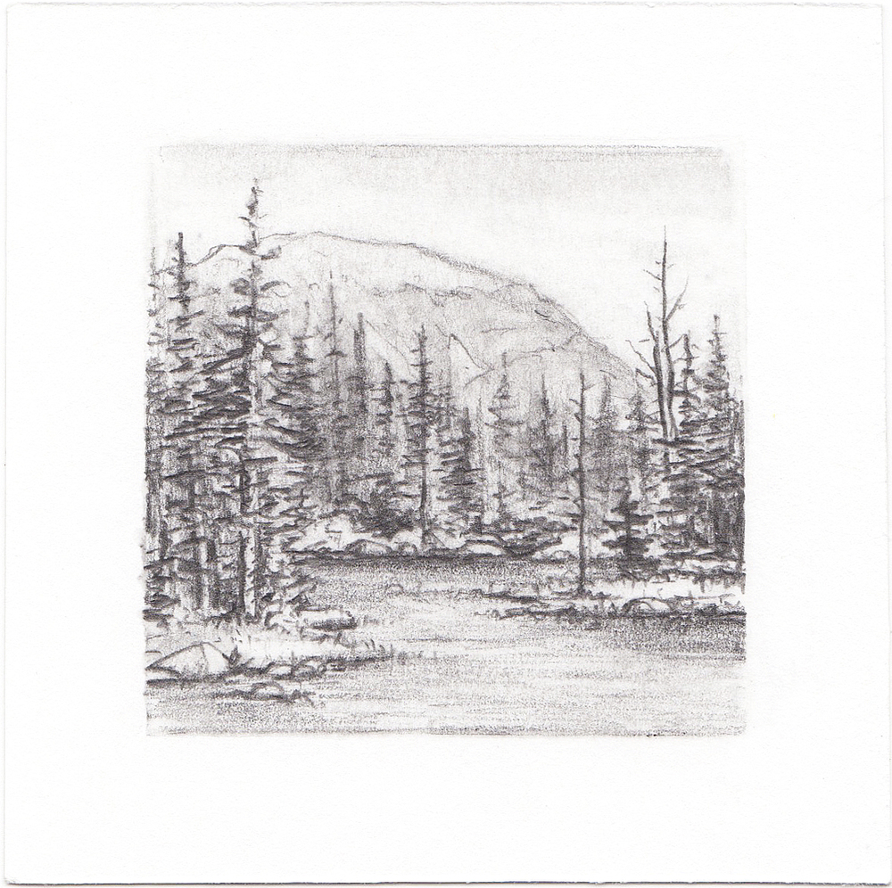 #27 Hayden Lake, Uinta Mountains, Utah | 3x3 | graphite