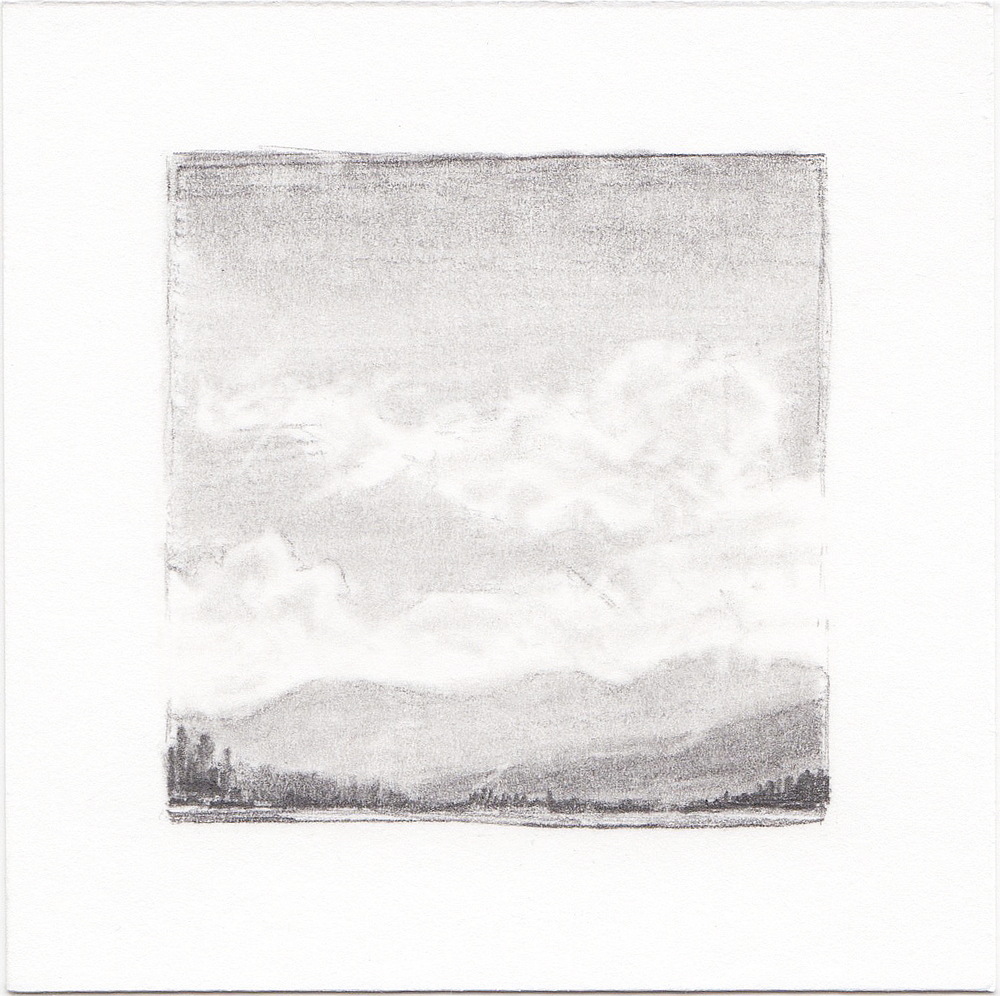 #28 Turquoise Lake, Colorado | 3x3 | graphite