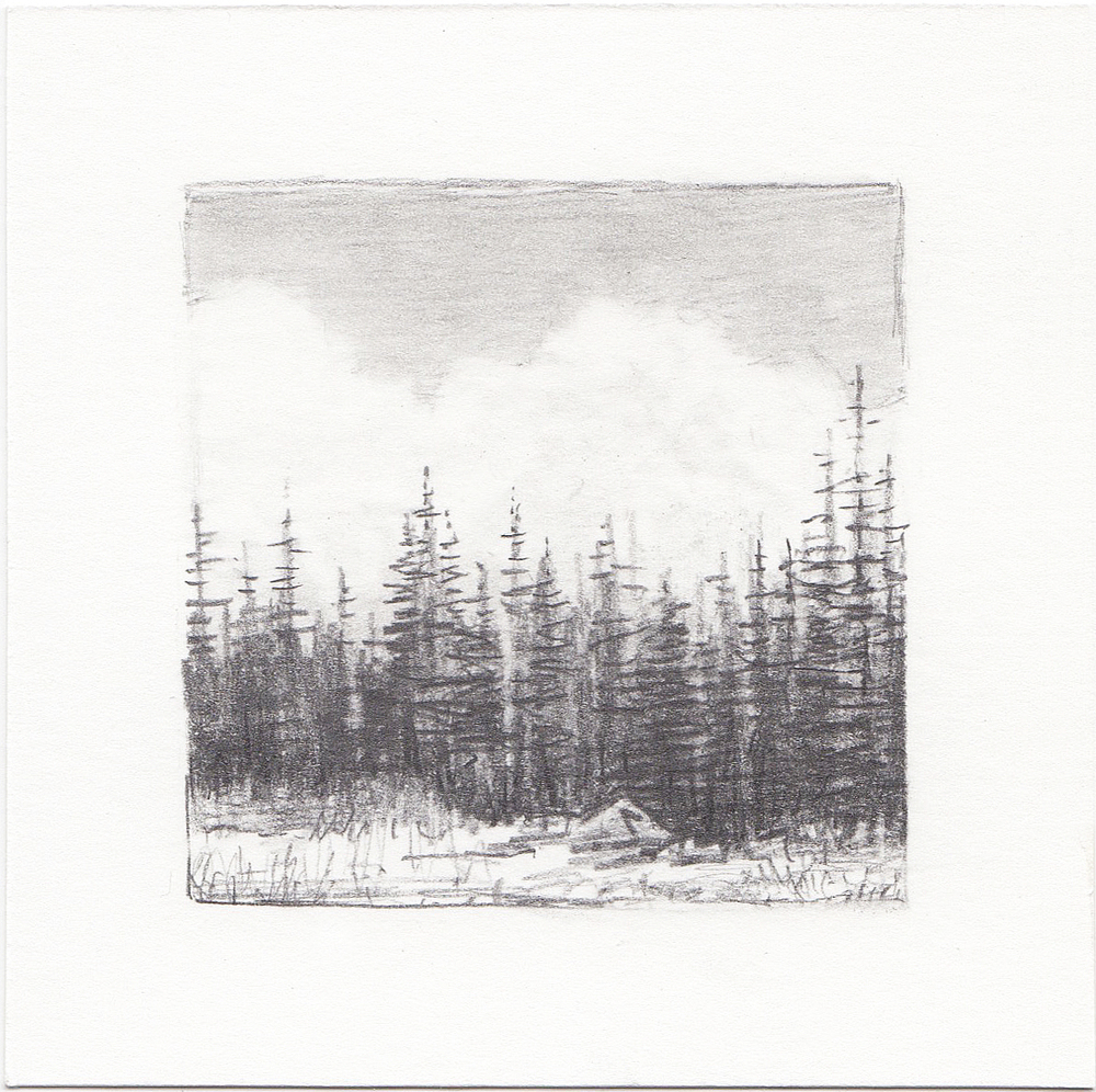 #29 Uinta Mountains, Utah | 3x3 | graphite