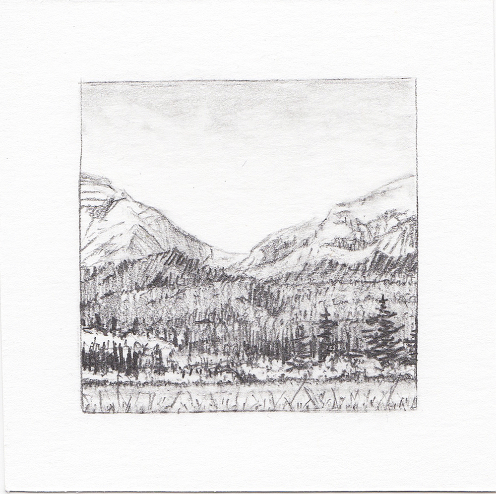 #30 Glacier National Park, Montana | 3x3 | graphite