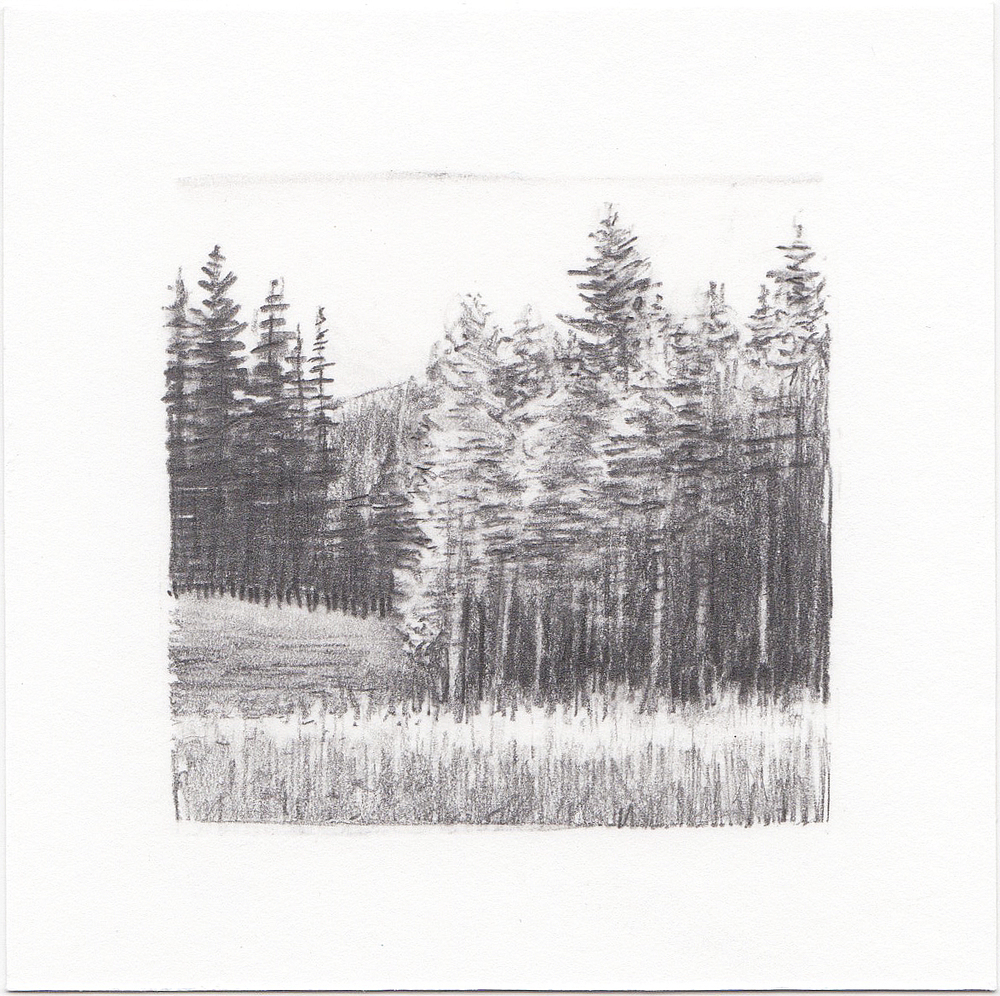 #32 Desolation Lake, Wasatch Mountains, Utah | 3x3 | graphite