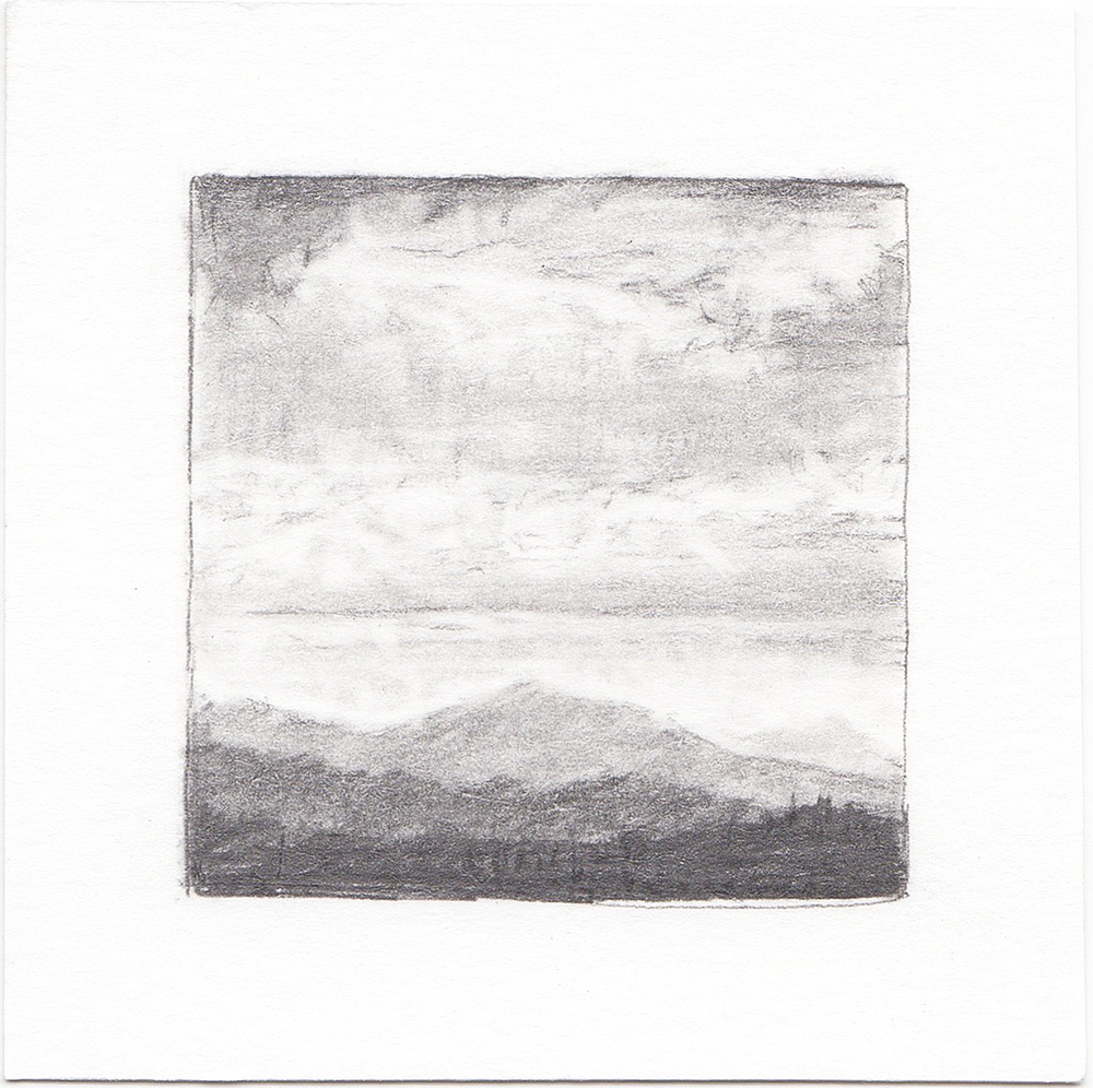 #34 Bonneville Shoreline Trail, Utah | 3x3 | graphite