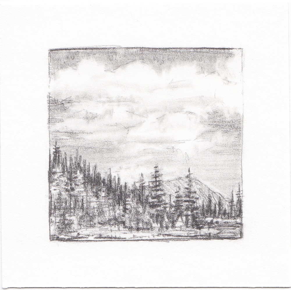 #35 Hayden Lake, Uinta Mountains, Utah | 3x3 | graphite