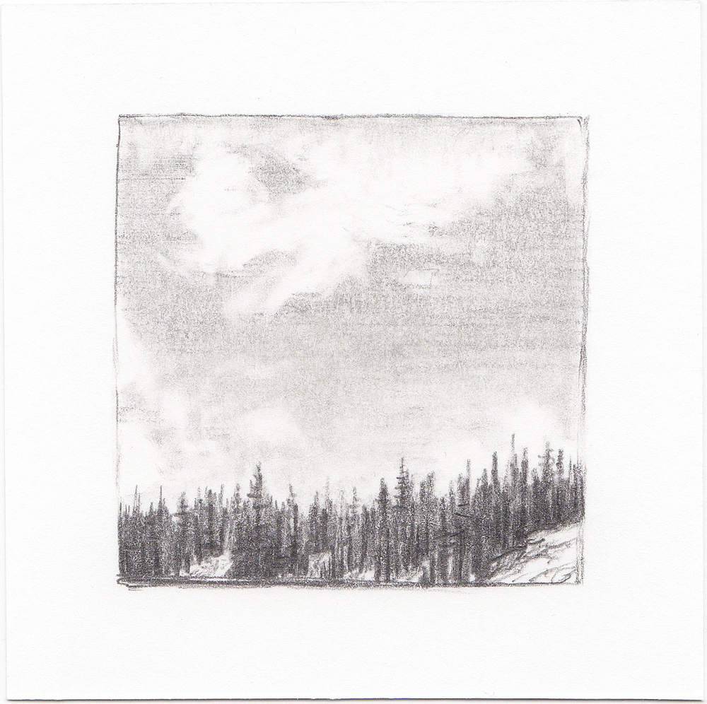 #36 Long Lake, Uinta Mountains, Utah | 3x3 | graphite