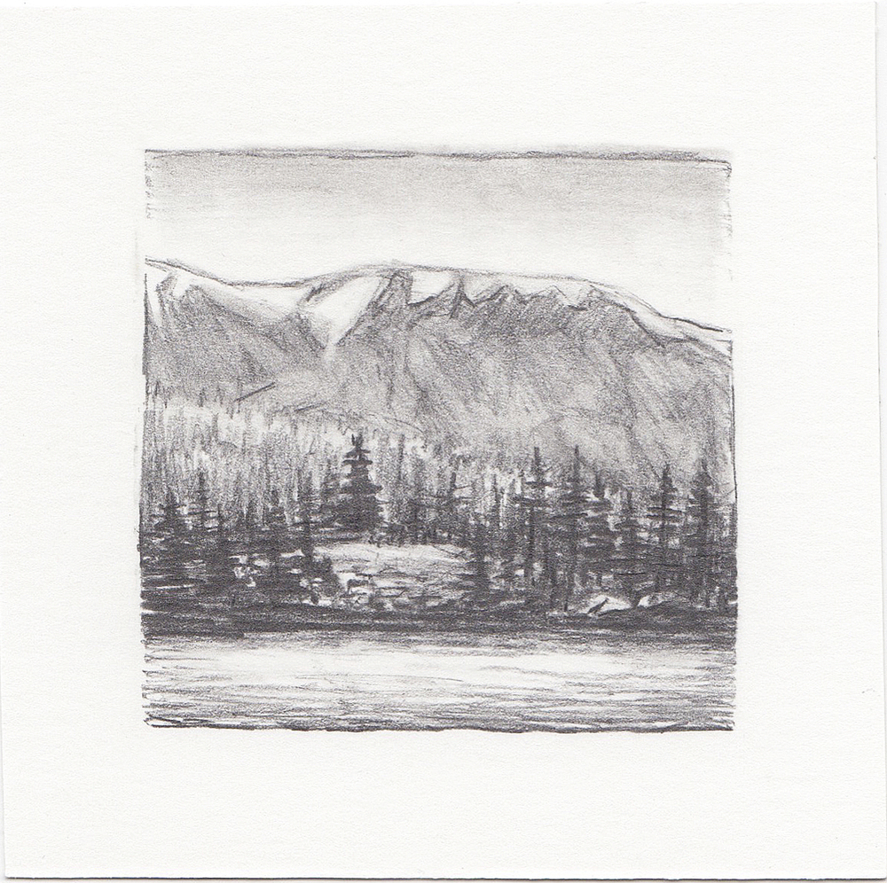 #37 Uinta Mountains, Utah | 3x3 | graphite