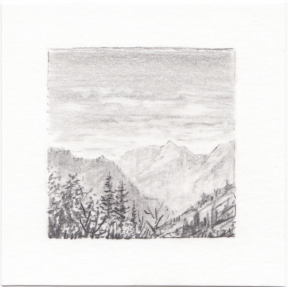 #41 Yosemite National Park, California | 3x3 | graphite