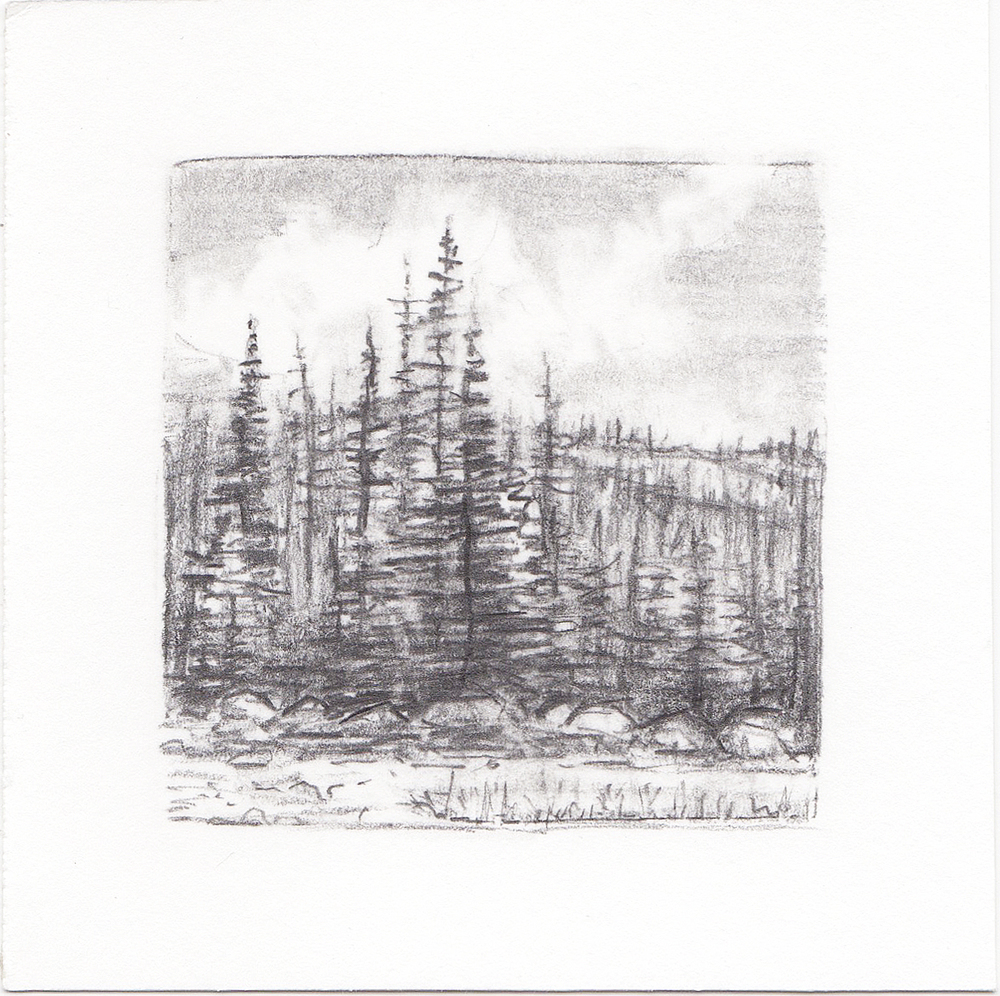 #43 Uinta Mountains, Utah | 3x3 | graphite