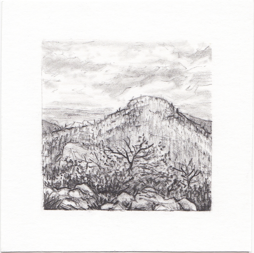 #45 Yosemite National Park, California | 3x3 | graphite