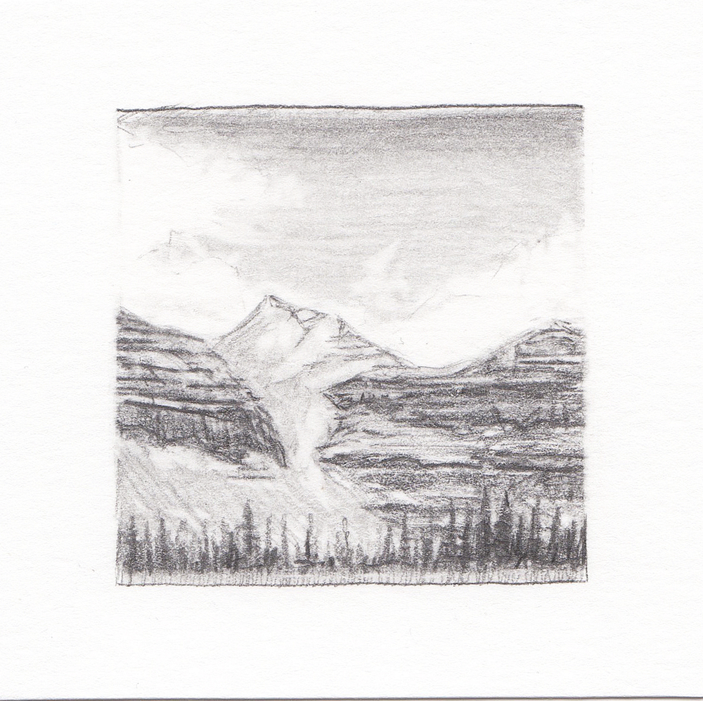 #46 Kings Peak, Uinta Mountains, Utah | 3x3 | graphite