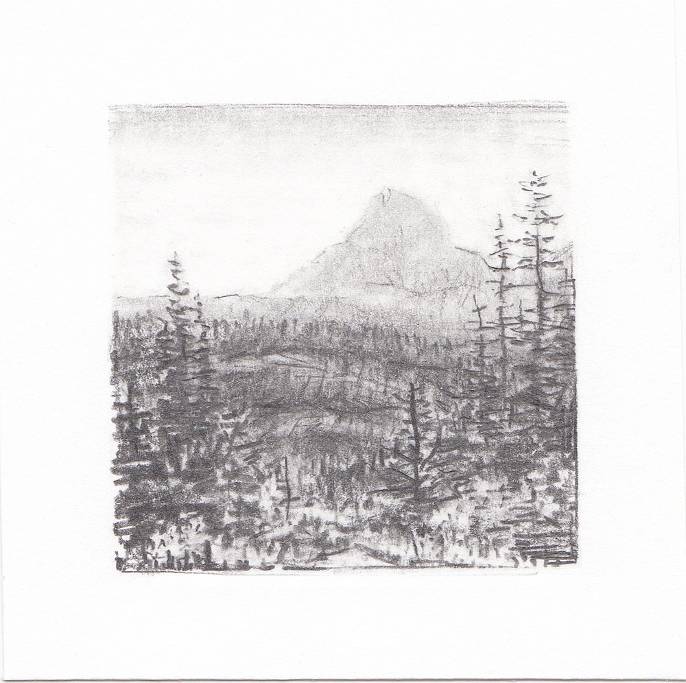 #47 Glacier National Park, Montana | 3x3 | graphite