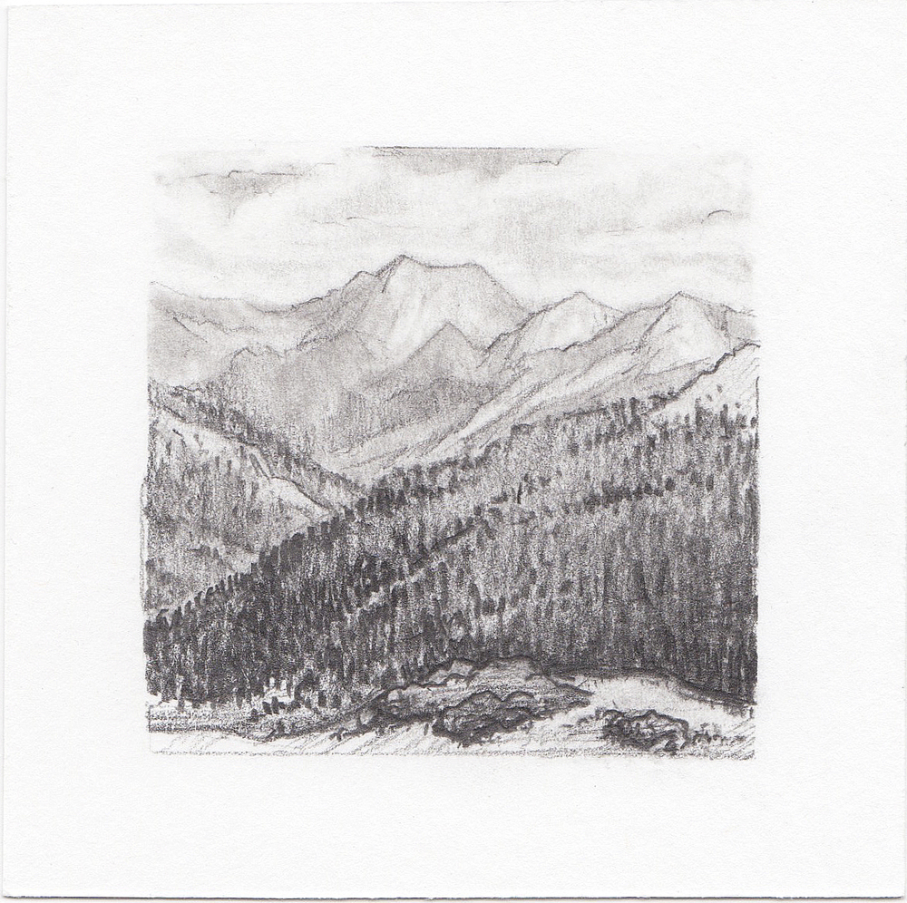 #48 Independence Pass, Colorado | 3x3 | graphite