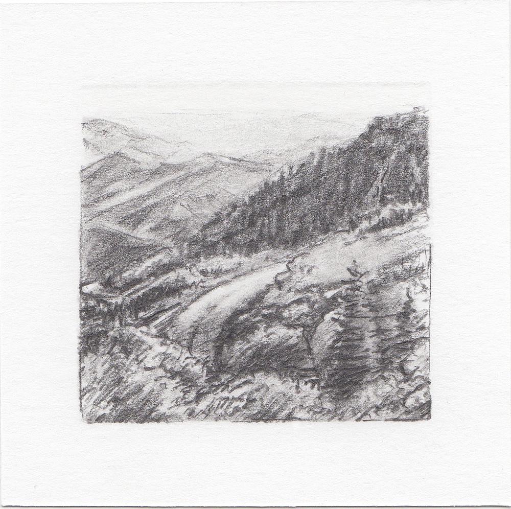 #49 Big Mountain, Utah | 3x3 | graphite