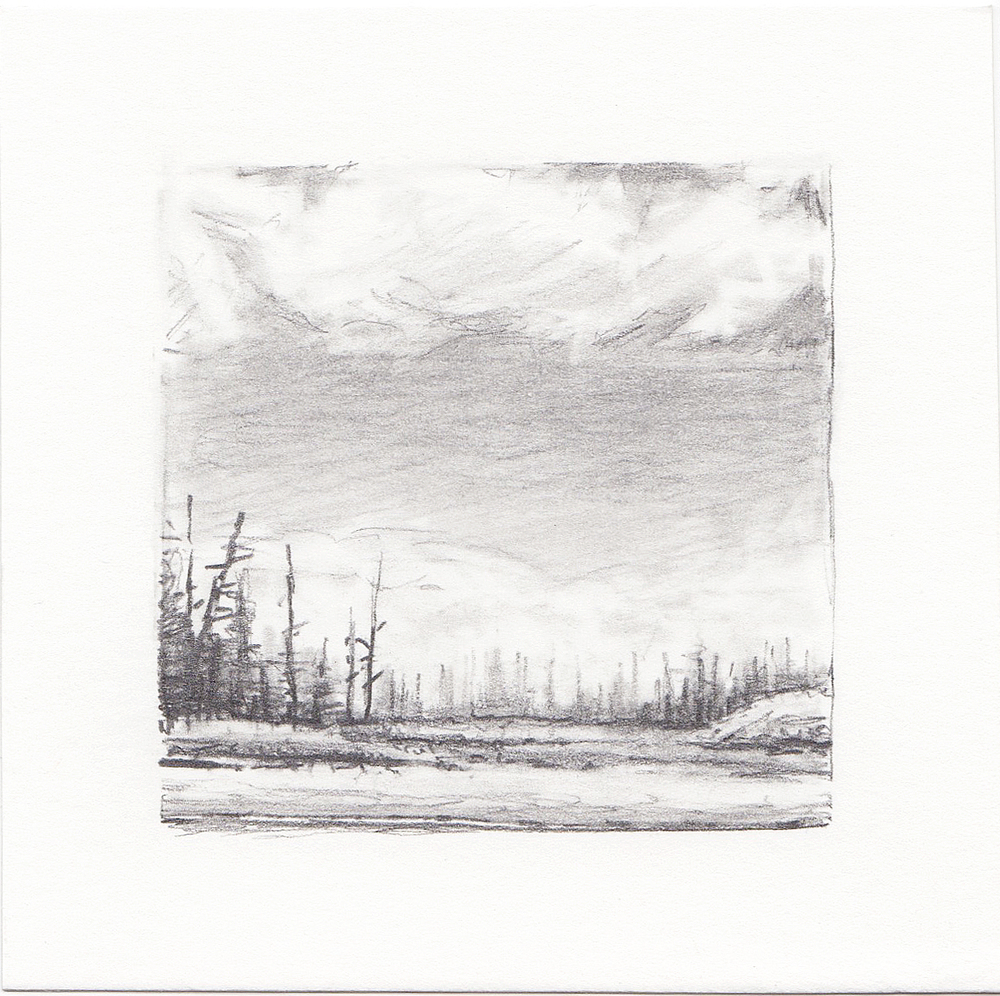 #51 Long Lake, Uinta Mountains, Utah | 3x3 | graphite