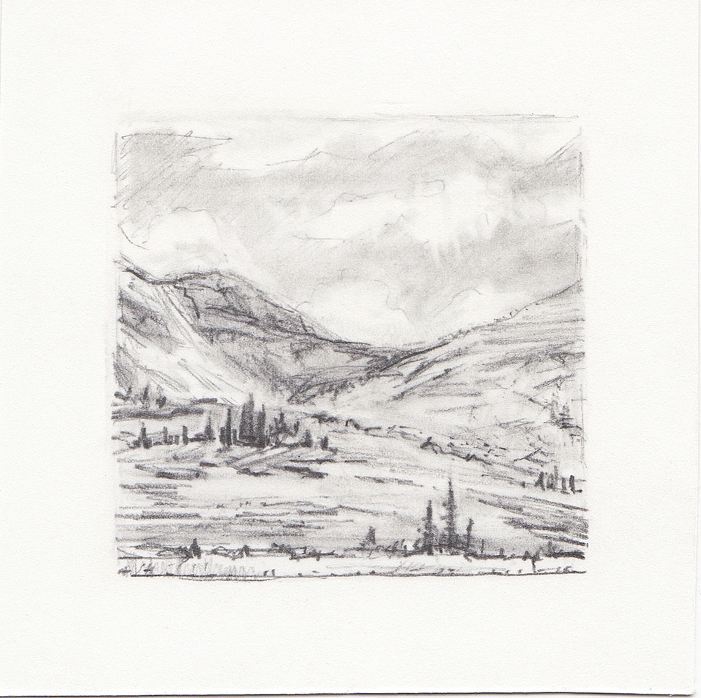 #52 Uinta Mountains, Utah | 3x3 | graphite