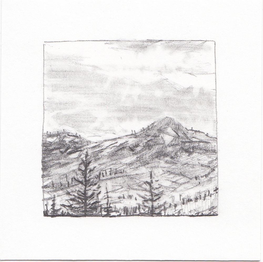 #53 Brighton Resort in Summer, Utah | 3x3 | graphite