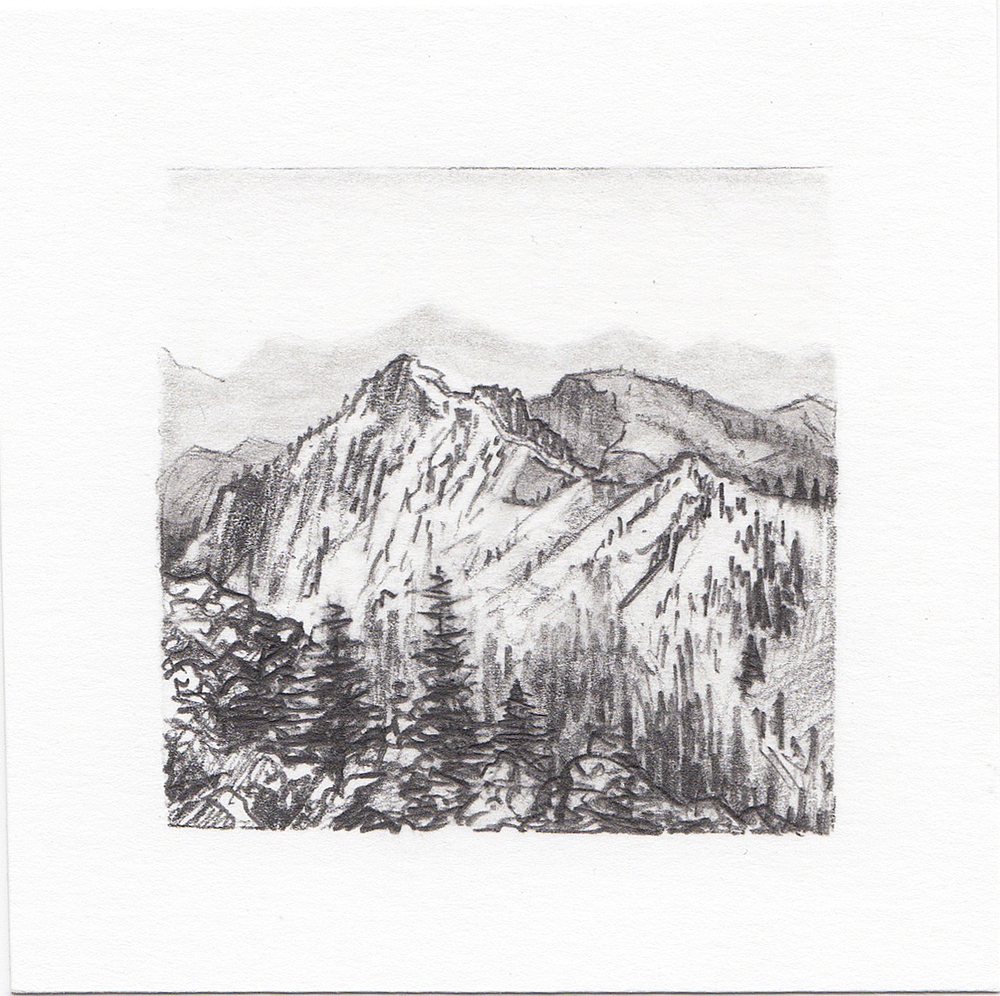 #55 Yosemite National Park, California | 3x3 | graphite