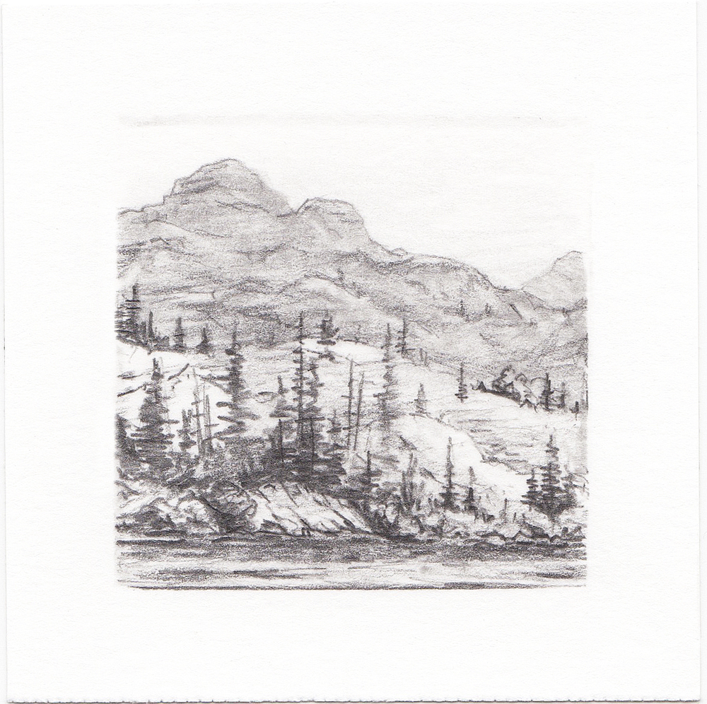 #56 Hayden Lake, Uinta Mountains, Utah | 3x3 | graphite