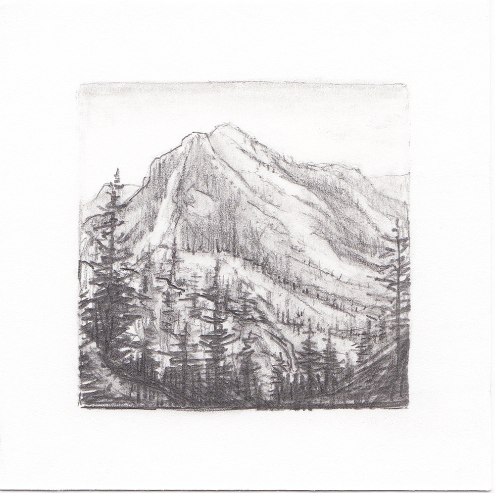 #60 Wasatch Mountains, Utah | 3x3 | graphite