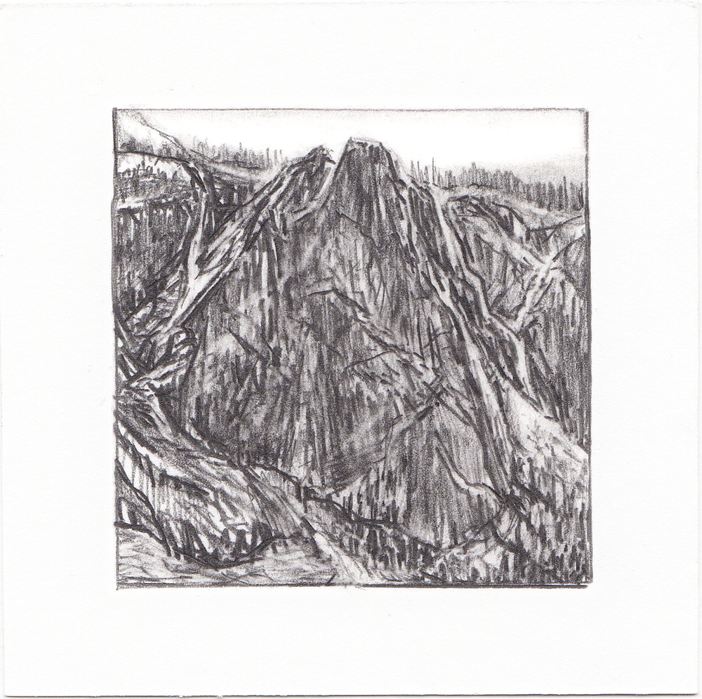 #63 Yosemite National Park, California | 3x3 | graphite
