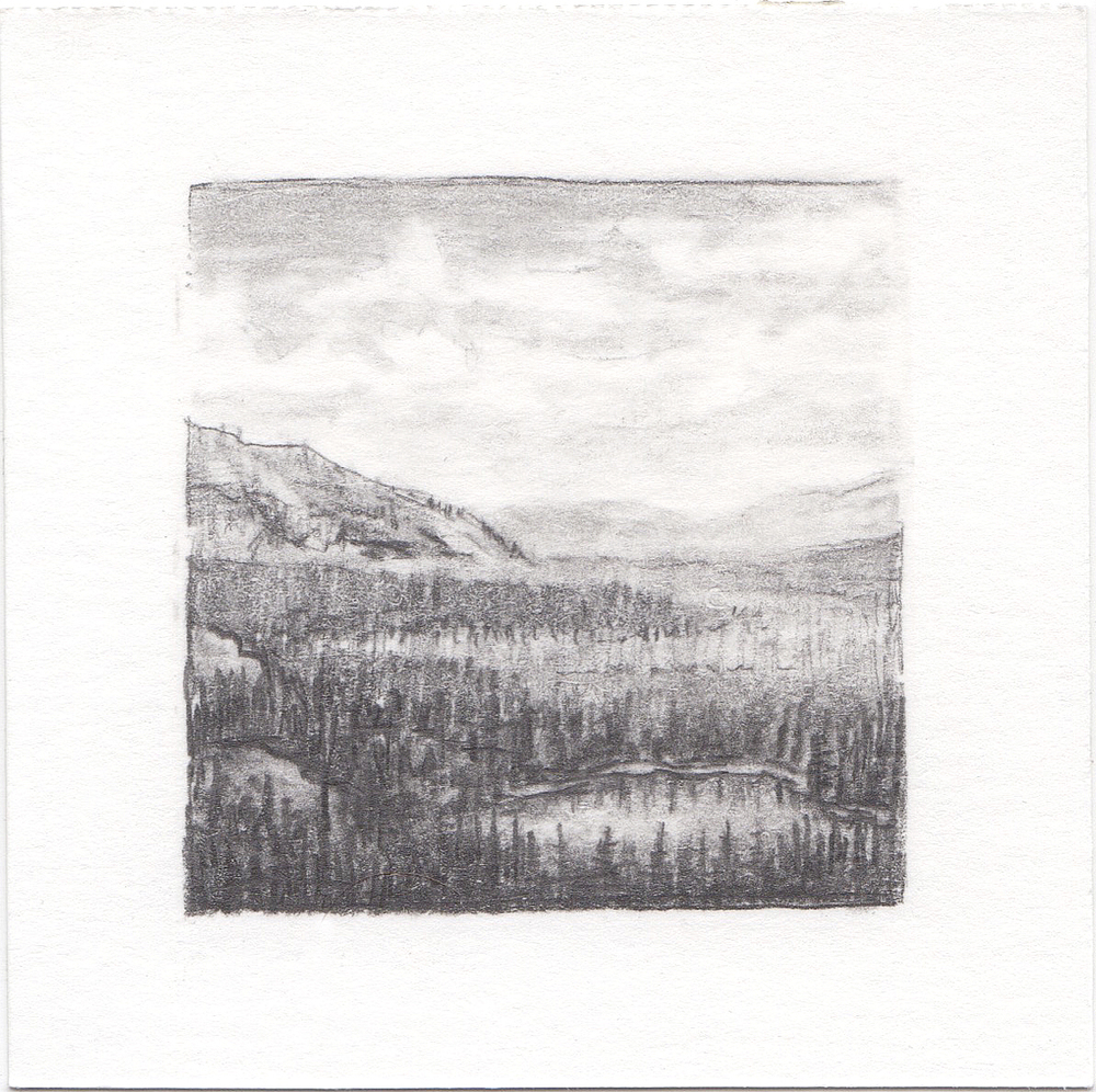 #66 Uinta Mountains, Utah | 3x3 | graphite