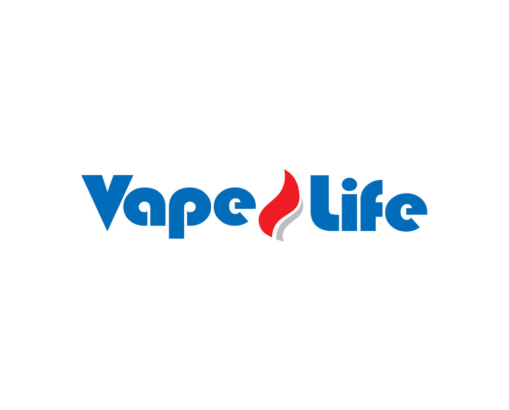 Vape Life The work for this Costa Rican shop centered around the client's vision of their company. The modern font combined with a colorful flame sought to reflect the modern, cool and hip, high end shopping experience one would have with this storefront.