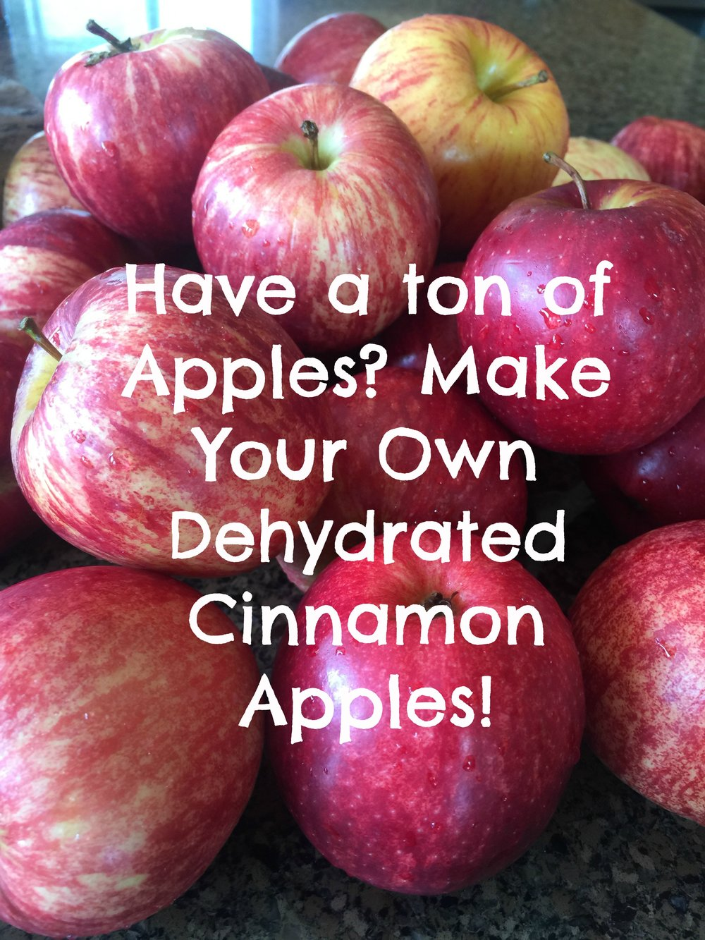 Find out how to make dried plain or cinnamon apples!