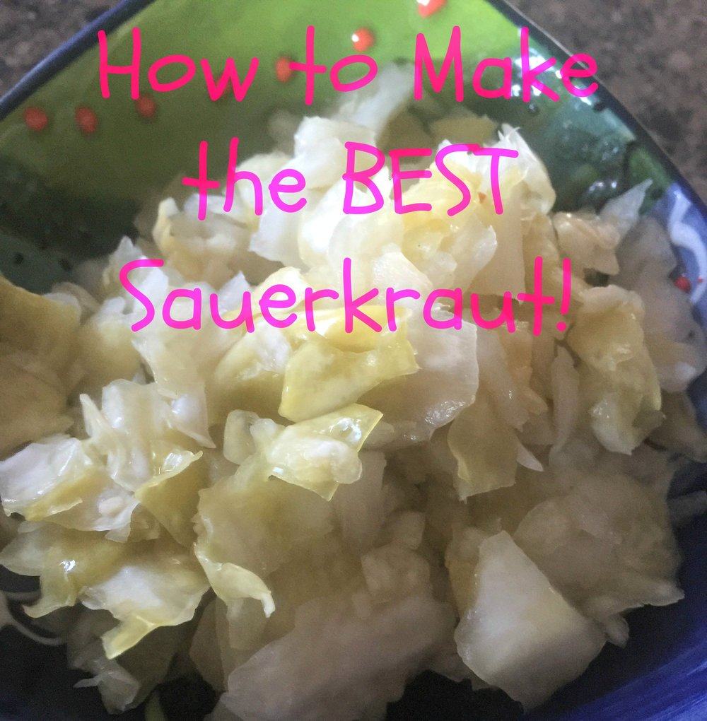 I LOVE sauerkraut!  Red, green, spicy, normal....I love it all!  Full of fermented goodness, your body will love you for making it!