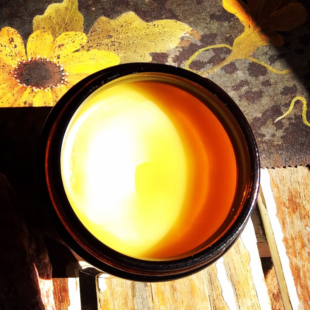 Finished salve in the sunshine!