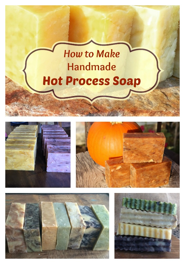 I love making hot process soap! Here is a hot process picture tutorial!Hot process soap is fast to make, and the soap turns out beautifully! The essential oil scents last a long time, too! Basically, you alleviate the curing time so you can use it right away! It's more rustic in appearance---very pretty.