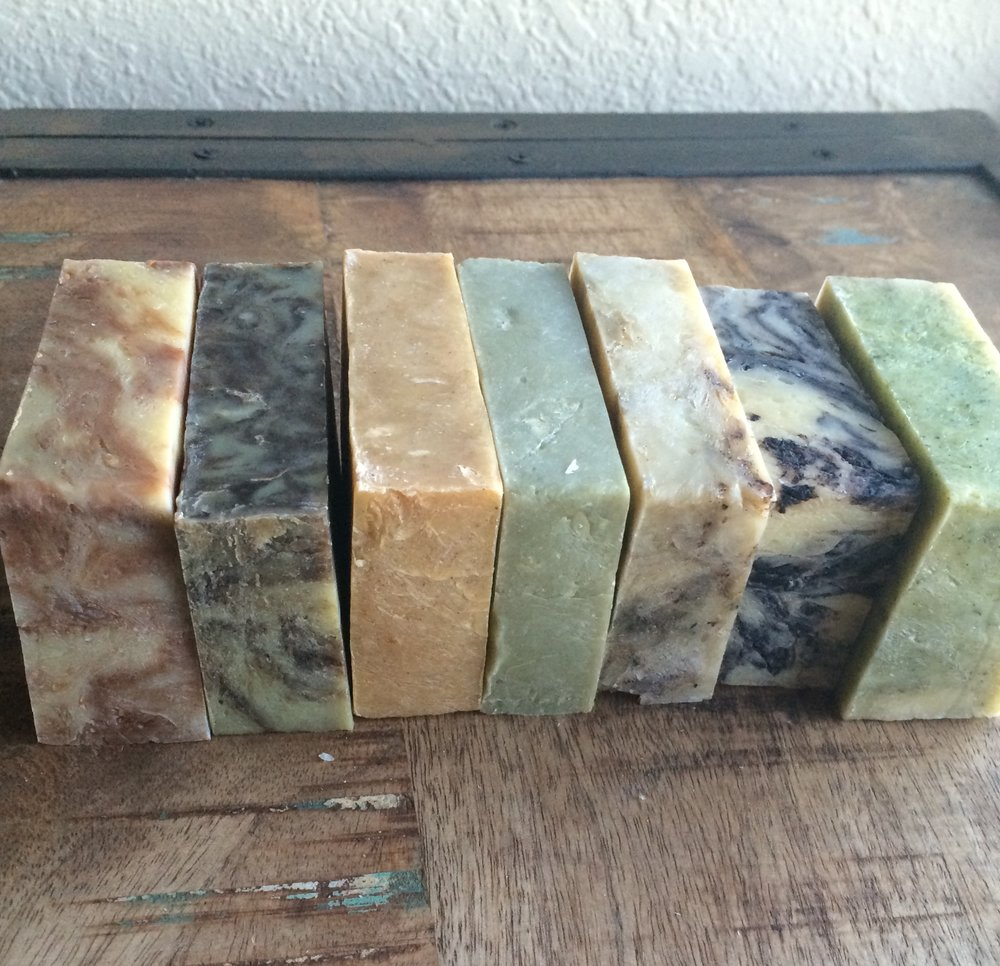 Here are a few of the many different soaps I've made over the years.
