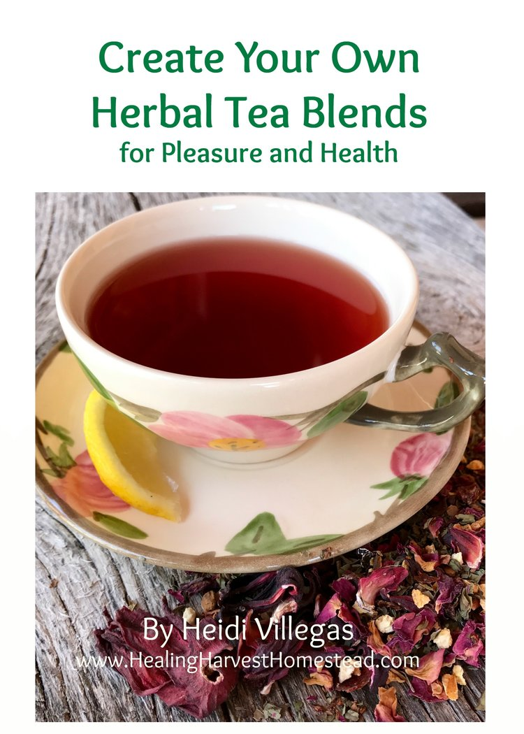 Click through to find out how you can learn to blend herbs, teas, and spices to create your very own special tasting and medicinal herbal teas!  This eBook is concise, clear, and best of all contains all the basics PLUS 14 of my best herbal tea recipes to get you started!