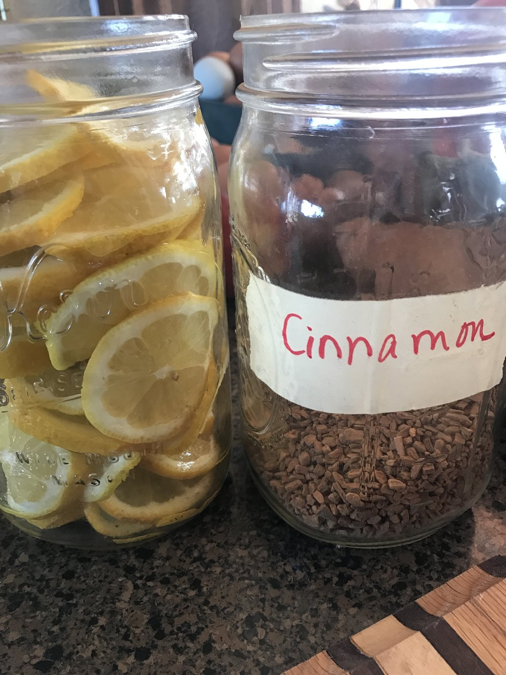 Pack them into your Mason jar.  I packed these in fairly tightly--I've found that the more packed in the fruit or vegetables are, the better the ferment, in my experience.