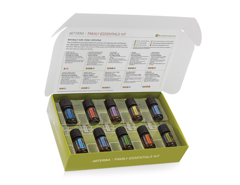 The Family Essentials Kit contains 5 ml bottles of Lavender, Lemon, Peppermint, Melaleuca (Tea Tree), Oregano, Frankincense, Deep Blue Blend, Breathe Blend, DigestZen Blend, On Guard Blend, Plus Peppermint Beadlets and OnGuard Beadlets.  Every oil is a necessary start for your home apothecary!   I WANT This Kit!