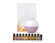 The Home Essentials Kit contains 15 ml bottles of Frankincense, Lavender, Lemon, Melaleuca, Oregano, Peppermint, Breathe, DigestZen, On Guard, 1 5ml bottle of Deep Blue Blend, and a Full Size Petal Diffuser! I WANT This Kit!