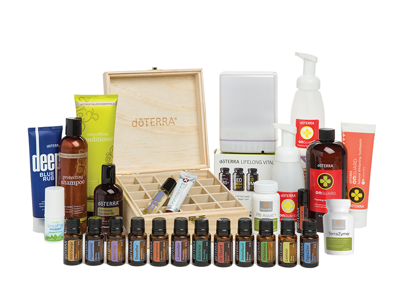 The Natural Solutions Kit contains: 15 ml bottles of Lavender, Lemon, Peppermint, Frankincense, Melaleuca, Wild Orange, lemongrass, Slim & Sassy, On Guard, Balance, DigestZen, AromaTouch, Serenity, Breathe.  A 10 ml roller bottle of Past Tense Blend  On Guard Product Line: On Guard Toothpaste, On Guard Beadlets, On Guard Foaming Hand Wash & Dispensers  Lifelong Vitality Supplements Set, PB Assist Probiotics, Terrazyme digestive Enzymes  Deep Blue Muscle Rub, Breath Vapor Stick, Correct-X Ointment, Salon Essentials Protecting Shampoo, Salon Essential Smoothing Conditioner  Aromalite Diffuser, Fractionated Coconut Oil, and Wooden Storage Box   I WANT This Kit!