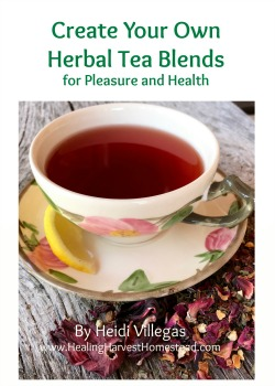 Interested in never buying commercial teas again?  Find out how to blend your very own personal herbal teas in my eBook!