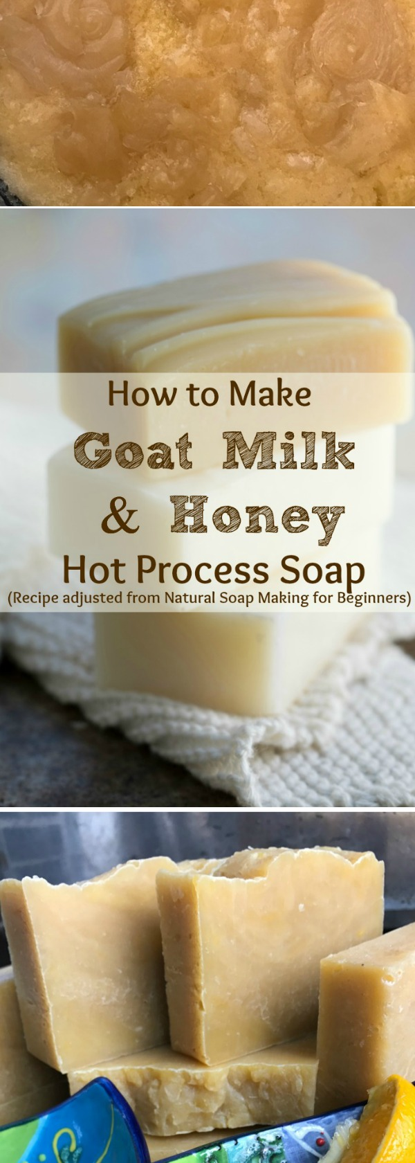 I've always wanted to make  Goats Milk & Honey Handmade Soap ! Here is a recipe for natural Moisturizing Hot Process Goat Milk & Honey Soap, PLUS how I changed the directions  from Cold Process Soap to the Hot Process soap making Method. Make your own soap! This recipe is from this incredible book:  Natural Soap Making for Beginners, by Kelly Cable.