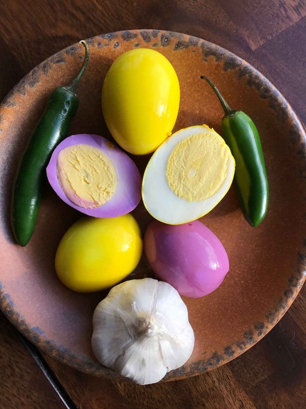 Aren't these pickled eggs just gorgeous? They are almost too pretty to eat! :-)